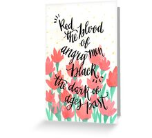 Red & Black Greeting Card