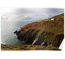 Irish cliffs and ocean view Poster