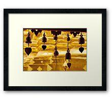 Temple bells, Wat Doi Suthep, Thailand Framed Print