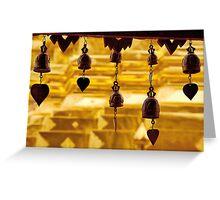 Temple bells, Wat Doi Suthep, Thailand Greeting Card