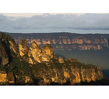 The Three Sisters - sunset Photographic Print