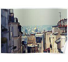 Montmartre skyline  Poster