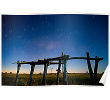 Straw Shed Moon Lit Poster