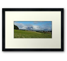 Sheffield's Mt Roland - clouds galore Framed Print