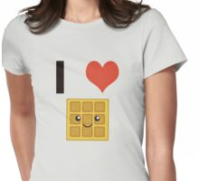 I heart (love) waffles Womens Fitted T-Shirt