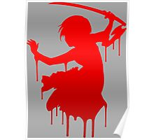 blood+ saya anime manga shirt Poster