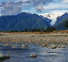 fox glacier, south westland, nz by rina  thompson