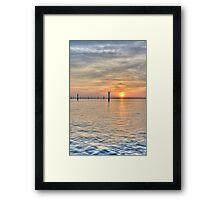 hdr port klang Framed Print