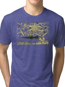 Nuremburg UFO woodcut Tri-blend T-Shirt