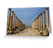 Jerash, Jordan Greeting Card