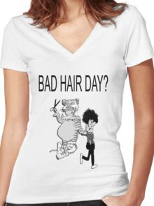 Bad Hair Day Women's Fitted V-Neck T-Shirt