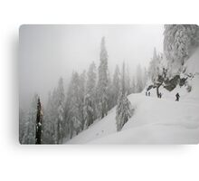 Grouse Mountain Snowshoeing  Metal Print
