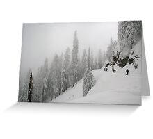 Grouse Mountain Snowshoeing  Greeting Card