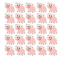 Cute Pink Pig Overload by Eggtooth