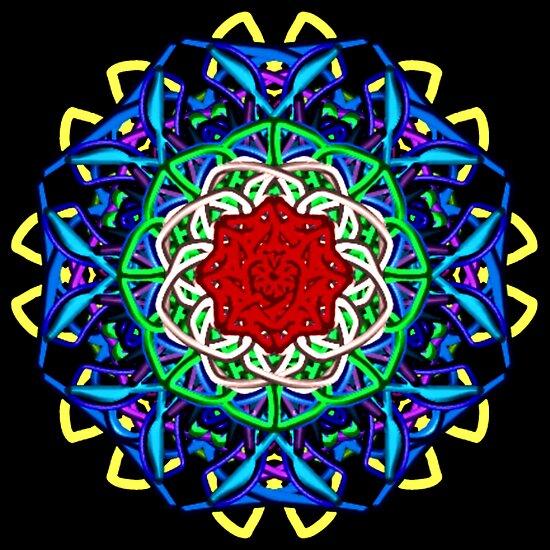 Wacky Lines Kaleidoscope by Charldia