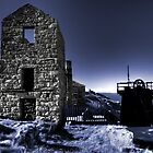 Levant tin mine in blue by Rob Hawkins