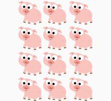 Cute Pink Pig Overload Unisex T-Shirt