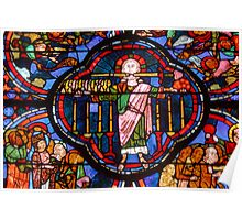 Stained glass, Bourges Cathedral: Christ of the Apocalypse Poster