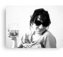 Beer Glasses.. Canvas Print