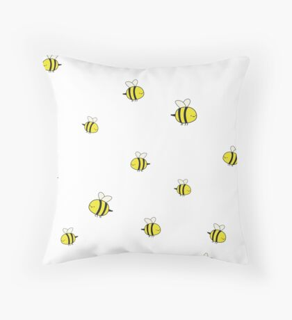 The Humble Bumble Bee Throw Pillow