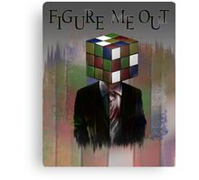 Figure Me Out text Canvas Print