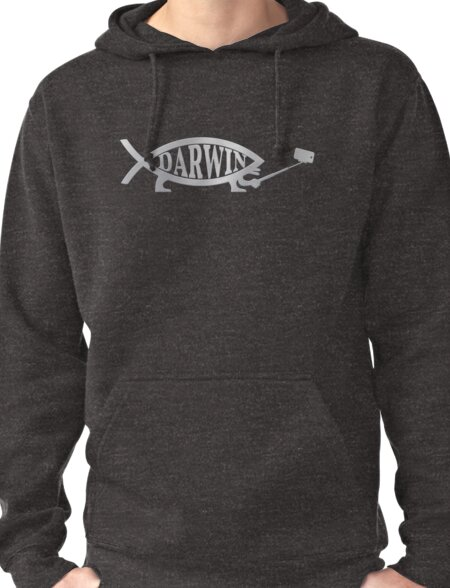 Duck Face Darwin Fish (or the selfish fish) Pullover Hoodie