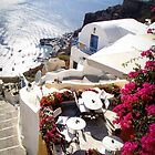 Steps to the water - Oia, Santorini by George Moolman