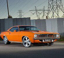 Orange 1970 Plymouth Barracuda by John Jovic