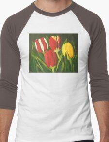 Tulip Time Men's Baseball ¾ T-Shirt