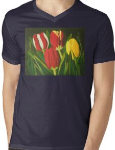 Tulip Time Mens V-Neck T-Shirt