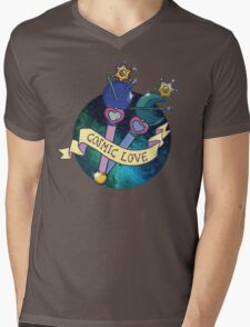 Cosmic Love Neptune Mens V-Neck T-Shirt