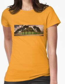 Beach Huts on an Autumn Afternoon Womens Fitted T-Shirt