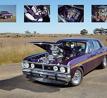Supercharged 1970 Wild Violet Ford Falcon XY by John Jovic