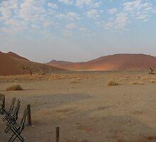 Namibian camp at Soussevli. by Paul Moran