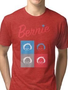 Retro Bernie Hair Shirt - Pop Art Pattern Tri-blend T-Shirt