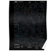 USGS Topo Map Oregon Willow Lake 20110808 TM Inverted Poster