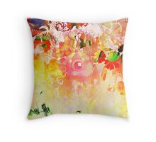 Colourful Abstract picture from the 90s Throw Pillow