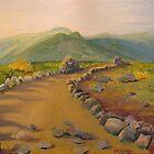 Top of Mt Eisenhower, NH toward Presidential range by P. Leslie Aldridge