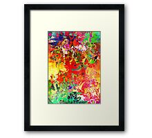 Abstract pen drawing late 1990s Framed Print