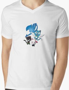 Fairy Tail Cats Mens V-Neck T-Shirt