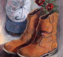 The Boots and Hat Daddy Died In by Randy  Burns