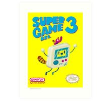 Super Game Bro 3 Art Print