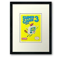 Super Game Bro 3 Framed Print