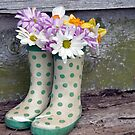 Boot Bouquet by Maria Dryfhout