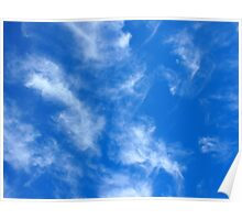 Only the blue sky with cirrus clouds Poster