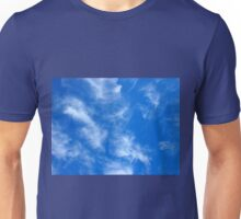 Only the blue sky with cirrus clouds Unisex T-Shirt