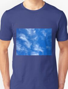Only the blue sky with cirrus clouds T-Shirt