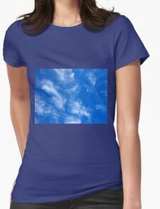 Only the blue sky with cirrus clouds Womens Fitted T-Shirt