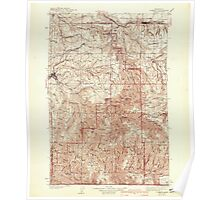 USGS Topo Map Washington Pomeroy 243191 1942 125000 Poster