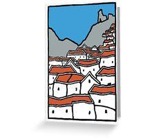 white village Greeting Card